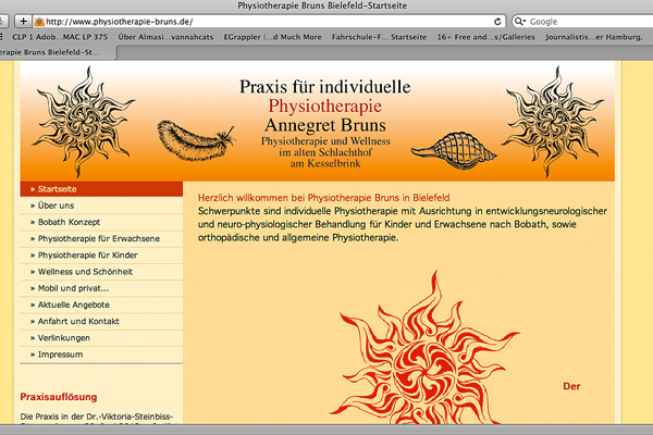 Physiotherapiehomepage:www.physiotherapie-bruns.de